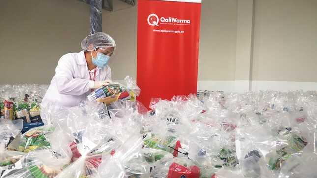 Más de siete toneladas de alimentos de Midis Qali Warma llegan a Lurín para atender a población más afectada por la pandemia
