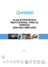 Vista preliminar de documento Plan Estratégico Institucional 2020-2024 ampliado