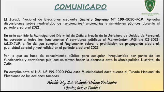 Prohibición de propaganda electoral, publicidad estatal y neutralidad en el periodo electoral 2021.