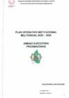 Vista preliminar de documento Plan Operativo Institucional Multianual 2022-2024