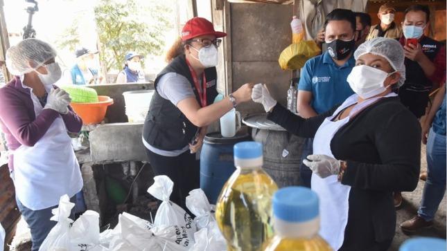 Villa María del Triunfo: Apoyo alimentario del Midis continúa llegando a las ollas comunes de los sectores más vulnerables del distrito
