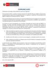 Vista preliminar de documento COMUNICADO Se publicó el Decreto Supremo N° 009-2021-EM que establece disposiciones complementarias respecto del incumplimiento de los requisitos y condiciones de permanencia del Registro Integral de Formalización Minera - REINFO. - (30 abril de 2021)