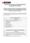 Vista preliminar de documento Instituciones inscritas en el Padrón Electoral del Consejo Nacional de Salud