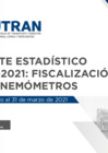 Vista preliminar de documento Reporte Estadístico N°006 - 2021: Fiscalización con Cinemómetros