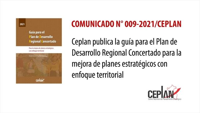 Comunicado 009-2021/CEPLAN