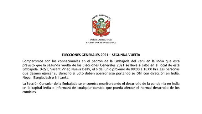 Horario y local de votación EGE2021