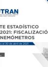 Vista preliminar de documento Reporte Estadístico N°007 - 2021: Fiscalización con Cinemómetros