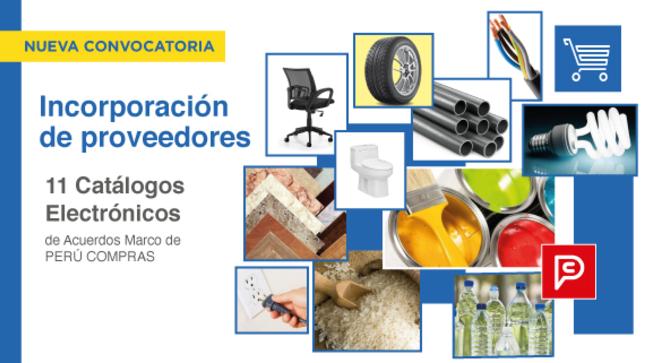 PERÚ COMPRAS lanzará una nueva convocatoria para incorporar proveedores a 11 Catálogos Electrónicos