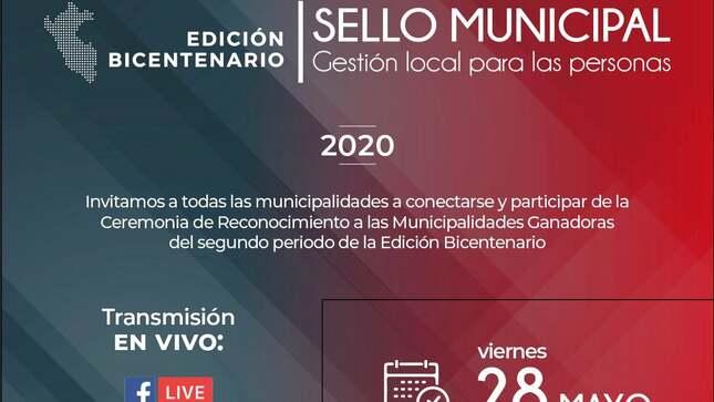 """Municipalidad Distrital de Mala, obtiene por segundo año consecutivo el Premio Nacional """"Sello Municipal"""""""
