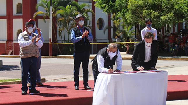 Perú firmó contrato con Francia para construcción de la nueva autopista Daniel Alcides Carrión