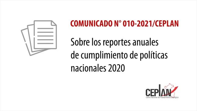 Comunicado 010-2021/CEPLAN