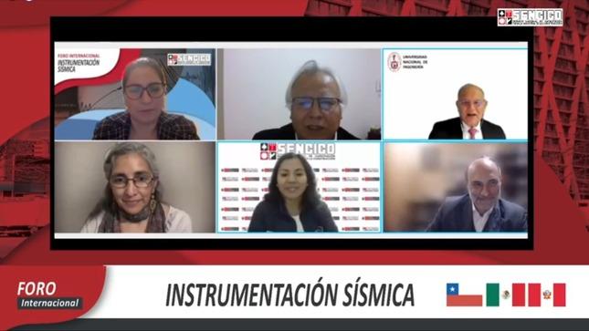 """SENCICO desarrolló el Foro Virtual Internacional sobre """"Instrumentación Sísmica"""""""