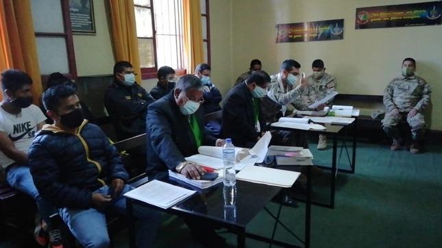 Juzgado Militar Policial de Huancayo dispone 6 meses de prisión preventiva a miembros del ejercito por violación de consigna y desobediencia
