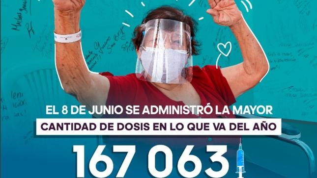 Gobierno de transición y emergencia bate récord de vacunación en un día: más de 167 mil dosis aplicadas en todo el país