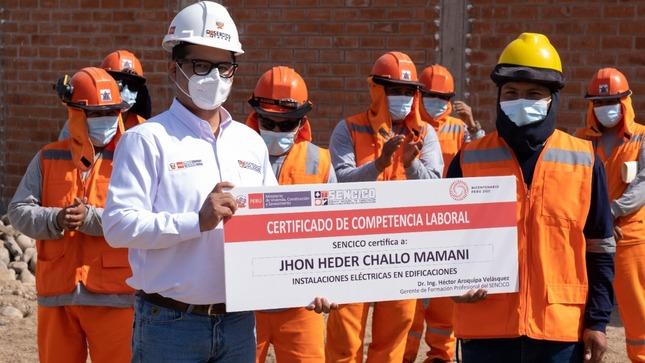 SENCICO continúa certificando competencias laborales a trabajadores del sector construcción en el norte del país