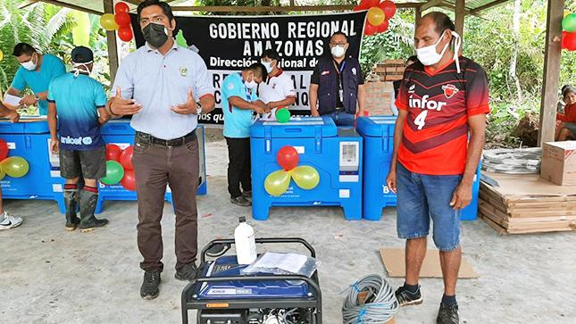 GSRC realiza la entrega de un generador electrónico para la I.E.S. Ricardo Palma Soriano de Kigkis