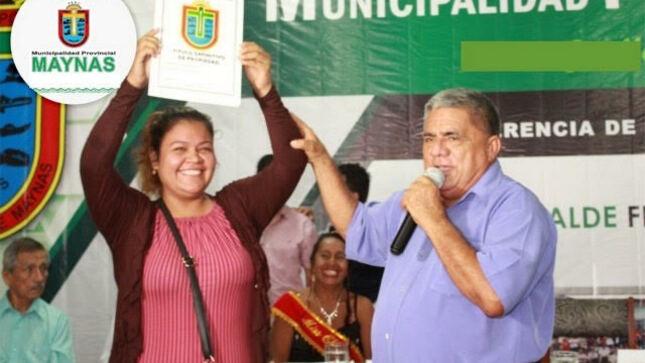 Hoy alcalde Sanjurjo entrega más de 200 títulos de propiedad