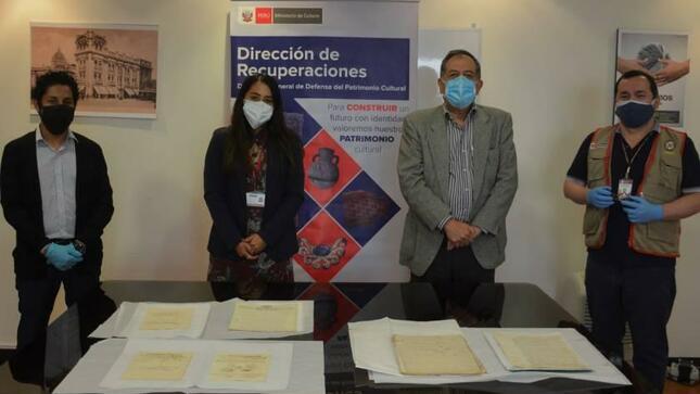 Archivo General de la Nación recibe seis documentos históricos que iban a ser vendidos en internet