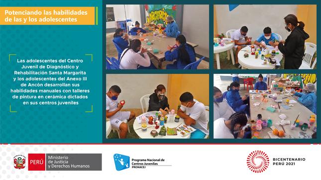 Adolescentes del Centro Juvenil Santa Margarita y del Anexo III de Ancón potencian sus habilidades artísticas