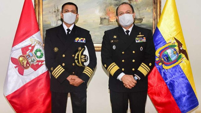 Jefe del Estado Mayor General de la Marina recibe visitas protocolares de las agregadurías navales de Estados Unidos y Ecuador