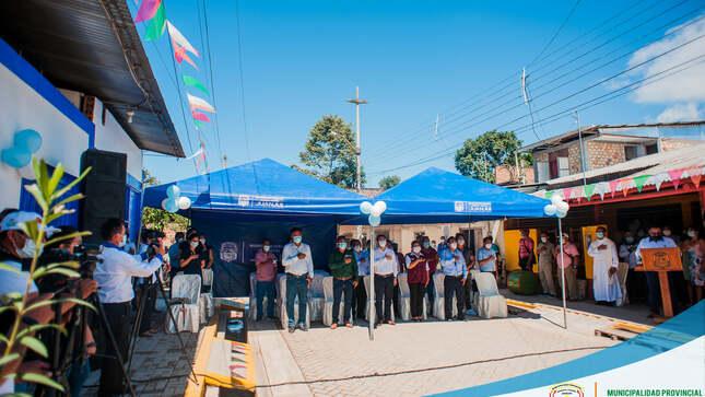 INAUGURACIÓN DEL JR. BOLIVAR de la Obra de Pistas y Veredas Ejecutó la Municipalidad Provincial, con el Programa Trabaja Perú