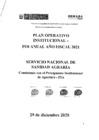 Vista preliminar de documento Plan Operativo Institucional 2021