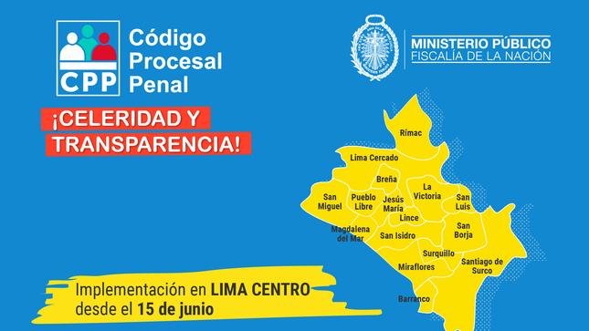 Entrada en vigencia del Código Procesal Penal refuerza el concepto de distritalización de la justicia penal