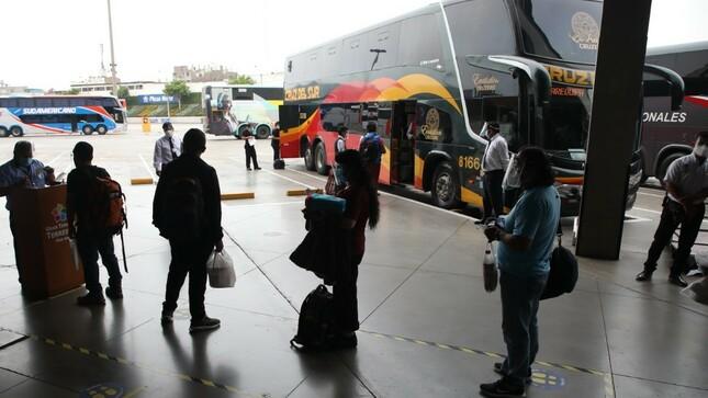 Se suspenden los servicios de transporte público de ámbito nacional en la Región Arequipa