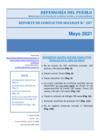 Vista preliminar de documento Reporte de Conflictos Sociales n.° 207 Mayo 2021