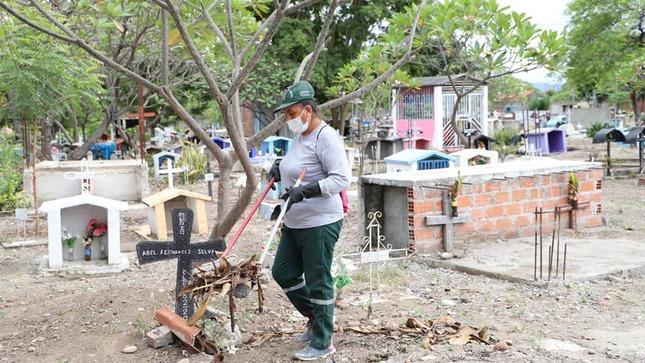 MPU realiza mejoras y limpieza en el camposanto de Bagua Grande