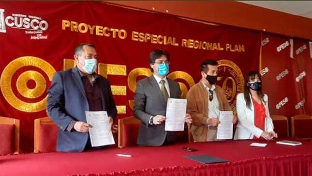 FAME suscribe el CONTRATO con el Gobierno Regional de Cusco