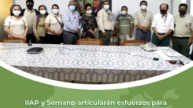 IIAP y Sernanp articularán esfuerzos para potenciar  recursos naturales