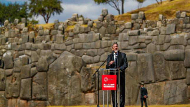 Presidente Sagasti en Cusco: Dejaremos un país en mejores condiciones de avanzar a pie firme hacia un futuro mejor