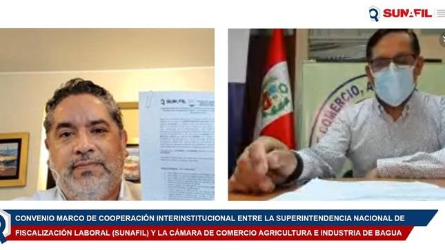 SUNAFIL suscribe convenio con Cámara de Comercio Agricultura e Industria de Bagua para articular con empresas en favor de trabajadores