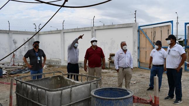 Director Ejecutivo de Otass inspecciona instalaciones de UE y coordina medidas en favor de la población de Tumbes