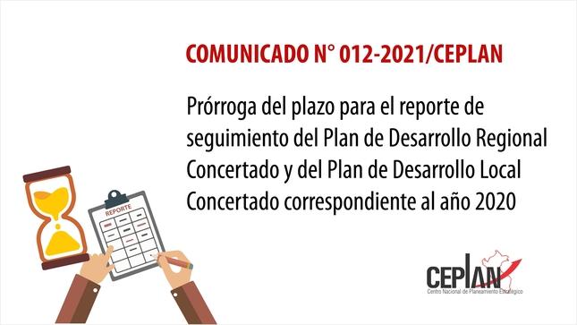 Comunicado 012-2021/CEPLAN