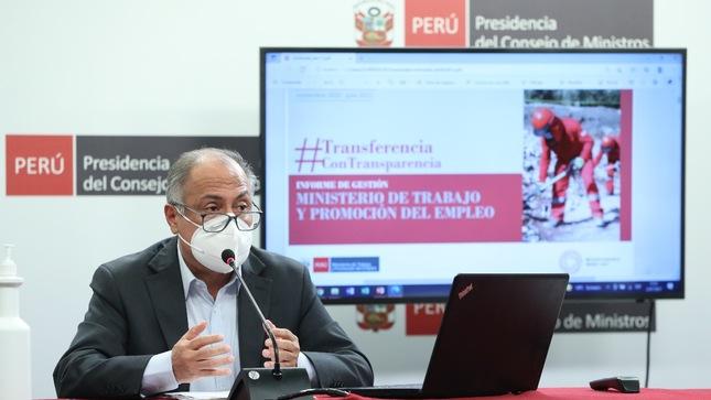 Ministro Palacios Gallegos: Se trabajó en tres ejes para lograr la recuperación del empleo
