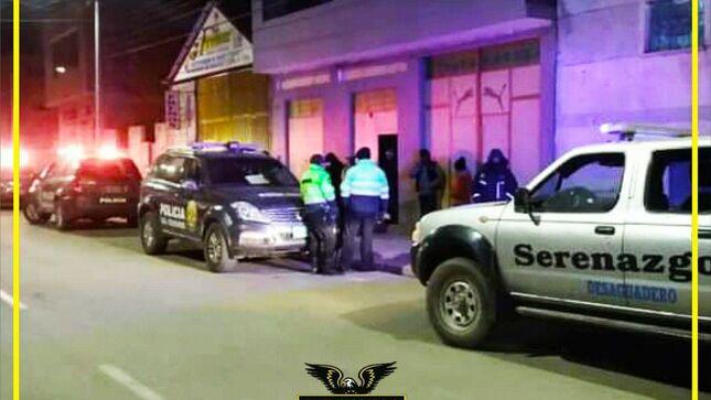 Seguridad Ciudadana CODISEC en coordinación con el grupo especial terna del escuadrón verde desarrollaron operativo inopinado en Desaguadero