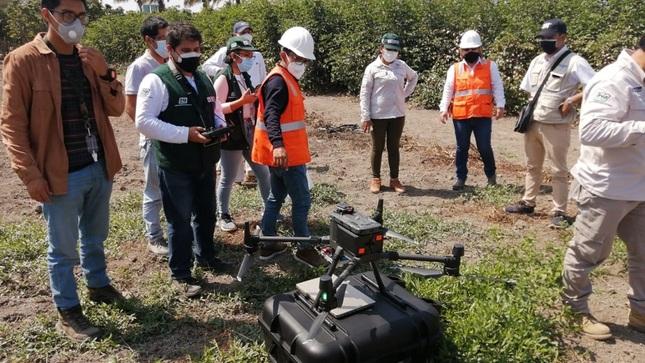 MIDAGRI monitoreará hectáreas de Lambayeque, Huancavelica, Ucayali y San Martín con equipos de drones de teledetección