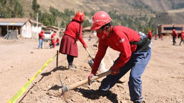 El MTPE invertirá más de S/ 65 millones para crear cerca de 14 mil empleos temporales en la región Cusco