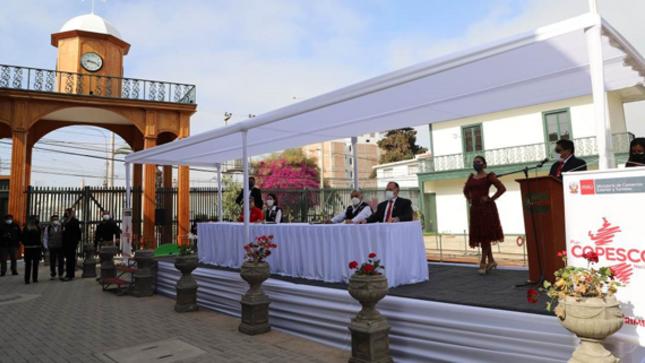 Inauguración de Obra de la Estación Ferrocarril (Museo Ferroviario) en Tacna - Arica
