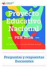Vista preliminar de documento Preguntas y Respuestas Frecuentes sobre el PEN 2036