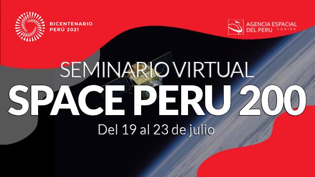 Seminario virtual de ciencia y tecnología espacial por el Bicentenario del país