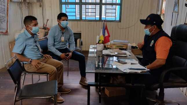 Funcionarios de la Municipalidad Provincial de Atalaya visitan en campo al terreno donde se ejecutará el Palacio Municipal de Distrito de Yu