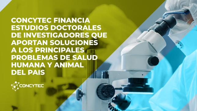 Concytec financia estudios doctorales de investigadores que aportan soluciones a los principales problemas de salud humana y animal del país