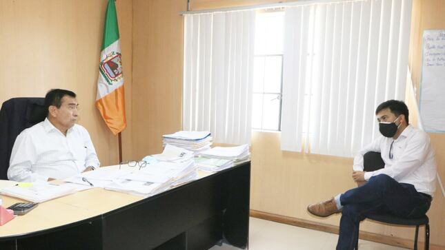 Reunión de coordinación con el jefe zonal de SUNARP