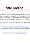 Vista preliminar de documento Comunicado de Suspension servicio de orientacion