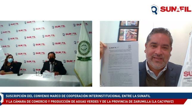 SUNAFIL suscribe convenio con Cámara de Comercio de Aguas Verdes para asesorar en temas laborales a favor de los trabajadores