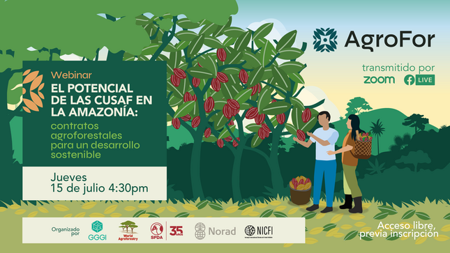 OSINFOR participará de webinar sobre el potencial de los contratos agroforestales en la Amazonía