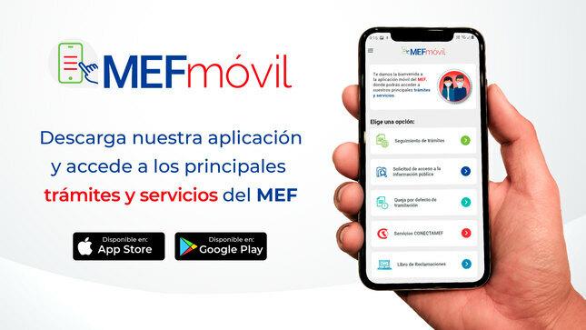El Ministerio de Economía y Finanzas lanza su aplicación MEFmóvil para trámites y servicios para atender a los ciudadanos